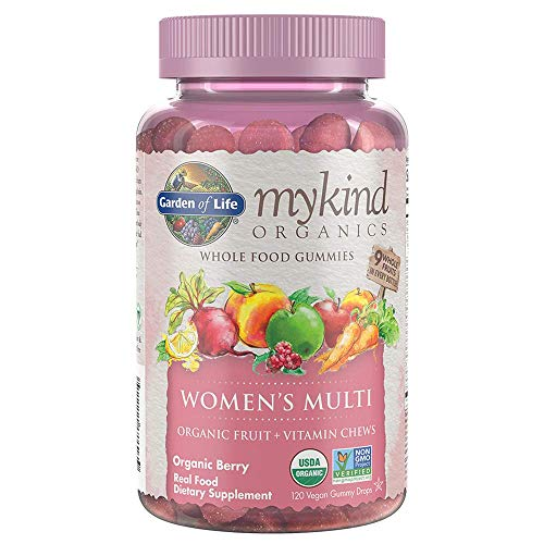 Garden of Life Mykind Organics Women's Real Fruit Gummy Multivitamin, Berry
