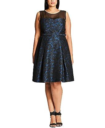 Designer Plus Size Dress After Dark Blue Royal 24 Xxl City