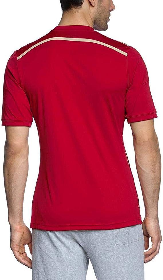 adidas Selección Española de Fútbol - Camiseta de fútbol, 2014, color rojo: Amazon.es: Zapatos y complementos