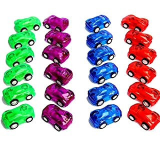 "Dazzling Toys 24 Pack 2"" Pull Back & Let Go Racer Cars - 2 Dozens - Assorted Car Colors- Great for Party Favor, Birthday Theme, Enjoyment."
