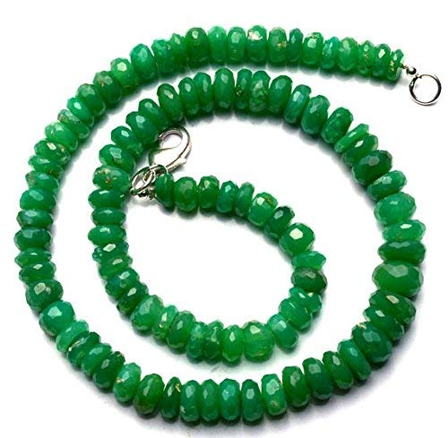 1 Strand Natural Chrysoprase 7 to 10MM Facet Rondelle Beads 16 Inch by LadoNarayani