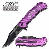Smol Store Masters Collection Purple Silver Dragon Rescue Tatical Pocket Knife MC-A003PE