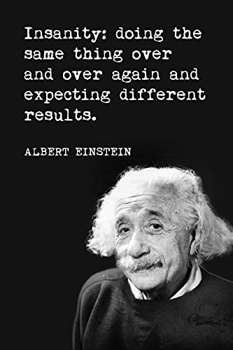 Insanity Albert Einstein motivational poster product image
