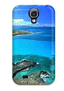 Premium Protection Makapu Oahu Hawaii Blue Sky Clouds White Water Shore Nature Other Case Cover For Galaxy S4- Retail Packaging
