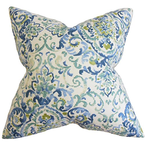 The Pillow Collection Halcyon Floral 22-inch Down Feather Th