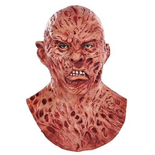 Zombies Freddy Krueger Cosplay Mask Natural Latex Headgear for Halloween Party -