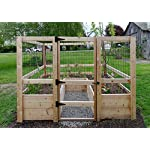 """Deer-Proof Just Add Lumber Vegetable Garden Kit - 8'x8' 12 DOES NOT INCLUDE LUMBER. Kit includes everything but the lumber: 8 Raised bed brackets, black nylon netting for fencing/trellis, black vinyl-coated steel wire for gate, ceramic-coated rust resistant screws, plus all other required hardware and detailed instructions Buy your own rough lumber locally - Build the ultimate vegetable garden with this kit. Required rough construction lumber : (10) 2""""x10""""x8'; (1) 2""""x10""""x6'; (6) 2""""x4""""x12'; (2) 2""""x4""""x8'; (3) 2""""x2""""x12'; (1) 2""""x2""""x8'; (4)1-5/8""""x1-5/8""""x12' (actual size). Note: the lumber boards will need to be further cut into the sizes described in the assembly instructions Gated garden keeps out deer, rabbits and dogs"""