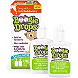 Boogie Drops Saline Nasal Drops, Stuffy Nose, Cold and Flu Relief (Pack of 1)