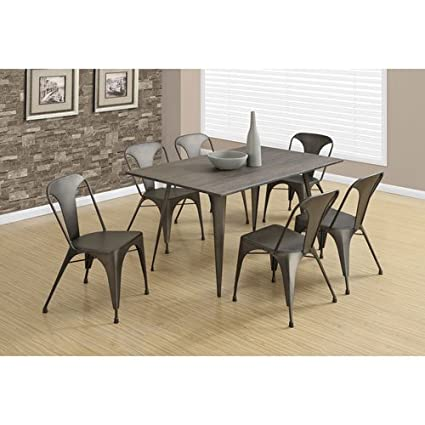Amazoncom Monarch Piece Metal Cafe Dining Chair Bronze - Metal cafe table and chairs