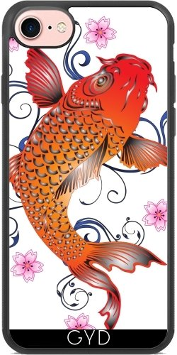 Coque Silicone pour Iphone 7 / Iphone 8 - Poisson Koi Asie Océan Sous-marin by WonderfulDreamPicture