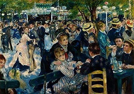 Renoir-Dance en Le moulin de la Galette Pinturas sobre lienzo Impresionistas Famosos Arte Mural Carteles e impresiones Cuadros de pared Cuadros50x75cm