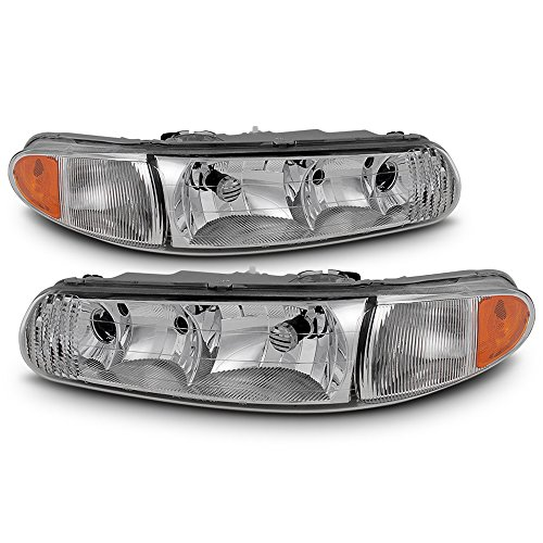 (ACANII - For 1997-2005 Buick Century 97-2004 Regal Headlights Head Lights Lamps Replacement Driver + Passenger Side)