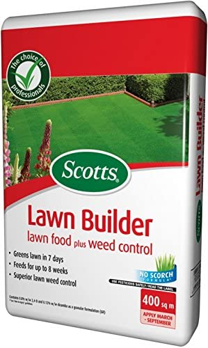 Scotts – Fertilizante para Evergreen – Césped constructor y control de malezas 8 kg (400 metros cuadrados) (césped comida – ccotts Evergreen – Césped constructor – control de malas hierbas): Amazon.es: Jardín