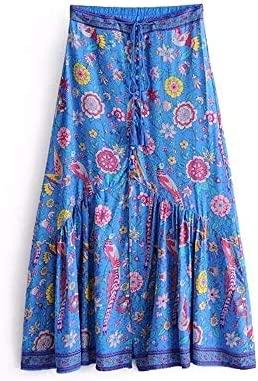 Falda de Las señoras Falda Bohemia de Las Mujeres Impreso Floral ...