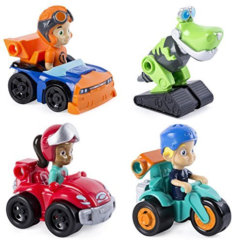Rusty Rivets Racers - Set of 4 Includes Rusty, Ruby, Liam, and Botosaur!