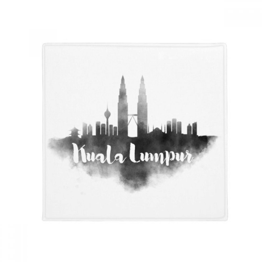 DIYthinker Kuala Lumpur Malaysia Landmark Ink City Anti-Slip Floor Pet Mat Square Home Kitchen Door 80Cm Gift