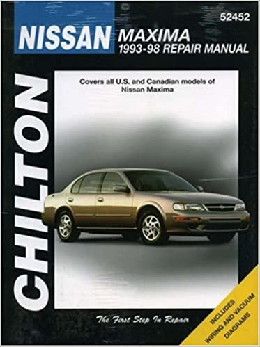 Nissan maxima 1993 98 chiltons total car care repair manual the nissan maxima 1993 98 chiltons total car care repair manual the chilton editors 9780801989612 amazon books fandeluxe Choice Image