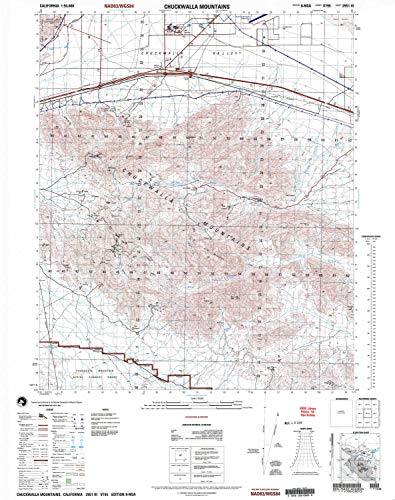 YellowMaps Chuckwalla Mountains CA topo map, 1:50000 Scale, 15 X 15 Minute, Historical, 2002, Updated 2004, 29.1 x 23 in - Paper