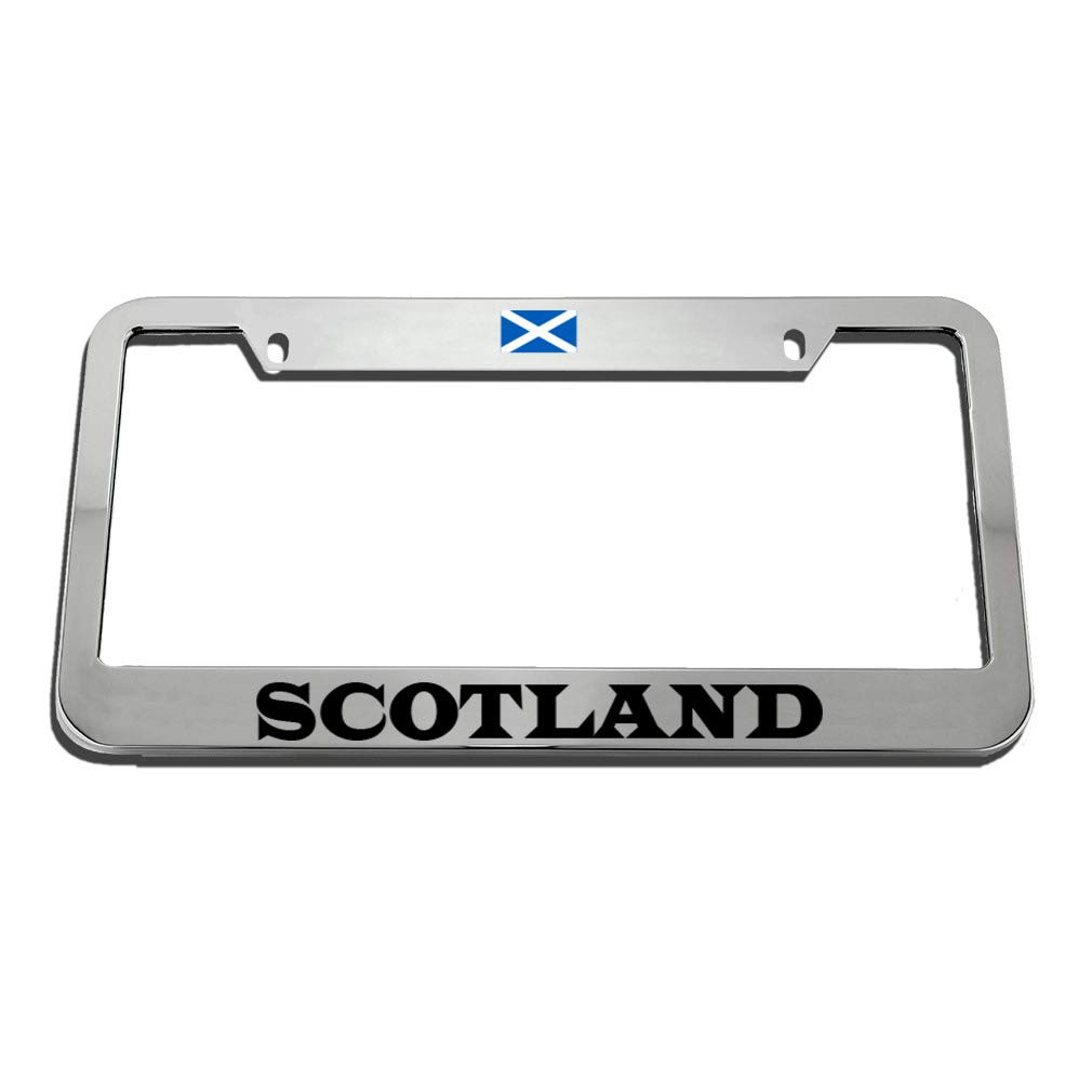 SCOTLAND SCOTTISH FLAG COUNTRY Metal License Plate Frame Tag Holder