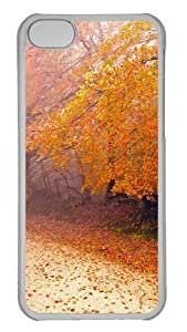 Foggy Autumn Morning Polycarbonate Hard Case Cover for iPhone 5C Transparent