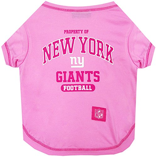 Pets First New York Giants Pink T-Shirt, Small
