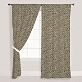 AZ Tiled Art Door & Window Curtain Satin 4feet x 10feet; SET OF 3 PCS