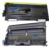 (1 Drum + 1 Toner) Replacement toner cartridge and drum for Brother TN350 DR350 Toner Cartridges and Drum replacement for Brother DR-350 TN-350 Set, Office Central
