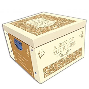Cream A Box Of Your Life Memories & Keepsake Large Collapsible Storage Box