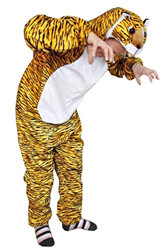 Women Halloween Costumes Homemade (Fantasy World Tiger Costume Halloween f. Men and Women Size: XL/ 16-18, An28)