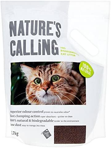 Llamando al 100% biodegradable Cat Litter 2.7 kg de la naturaleza ...
