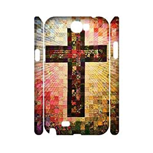 Cross Personalized 3D Cover Case for Samsung Galaxy Note 2 N7100,customized phone case ygtg549773 WANGJING JINDA