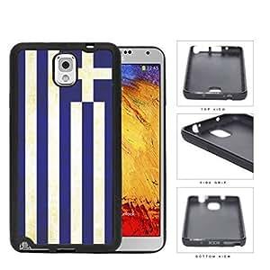Greece Flag Blue White Stripes Grunge Hard Rubber TPU Phone Case Cover Samsung Galaxy Note 3 N9000 hjbrhga1544