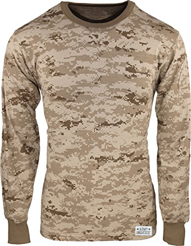 Army Universe Desert Digital Camouflage Long Sleeve Military T-Shirt With  Pin - Size X-Large (45