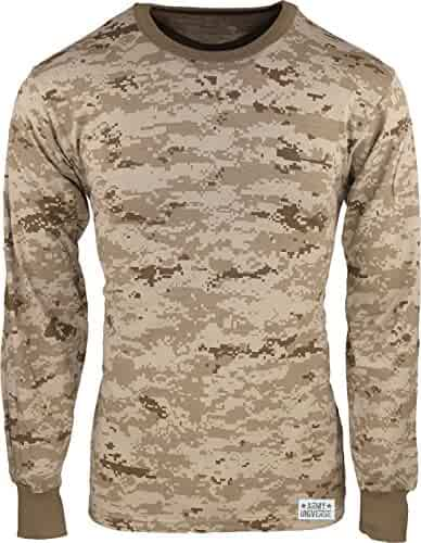 Military Camouflage Long Sleeve T-Shirt Camo Army Tee With ArmyUniverse Pin cb0ce956492