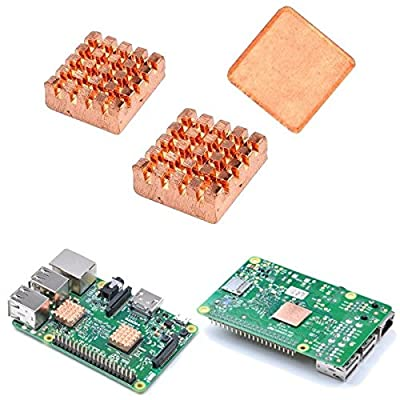 Raspberry Pi 2/3 Copper Heat Sink Heatsink With 3M Special Thermal Cooling Paste / Raspberry Pi 2/3 Copper Heat Sink Heatsink With 3M Special Thermal Cooling Paste . . . Material: Copper . .