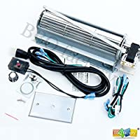 bbq factory GFK4, FK4 Replacment Fireplace Blower Fan KIT for Heatilator, Majestic, Vermont Castings, Monessen, CFM, Northern Flame, Rotom HB-RB74K