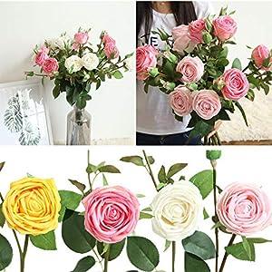 CANAFA-Home & Kitchen Artificial Flowers Artificial Silk Fake Flowers Rose Floral Wedding Bouquet Bridal Hydrangea Decor 101