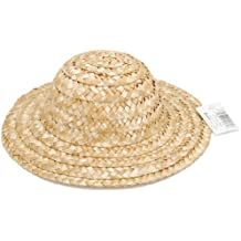 "Darice 2814 Round Top, Natural Straw Hat, (ranges from 8 - 9"") Straw Hat"