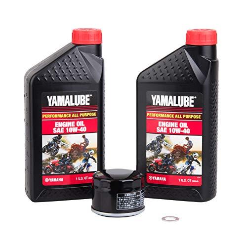 Tusk 4-Stroke Oil Change Kit Yamalube All Purpose 10W-40 - Fits: Yamaha Grizzly 700 4x4 2019