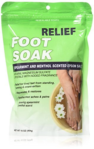 Relief MD Foot Soak Spearmint & Menthol Epsom Salt, 16 oz by Relief MD