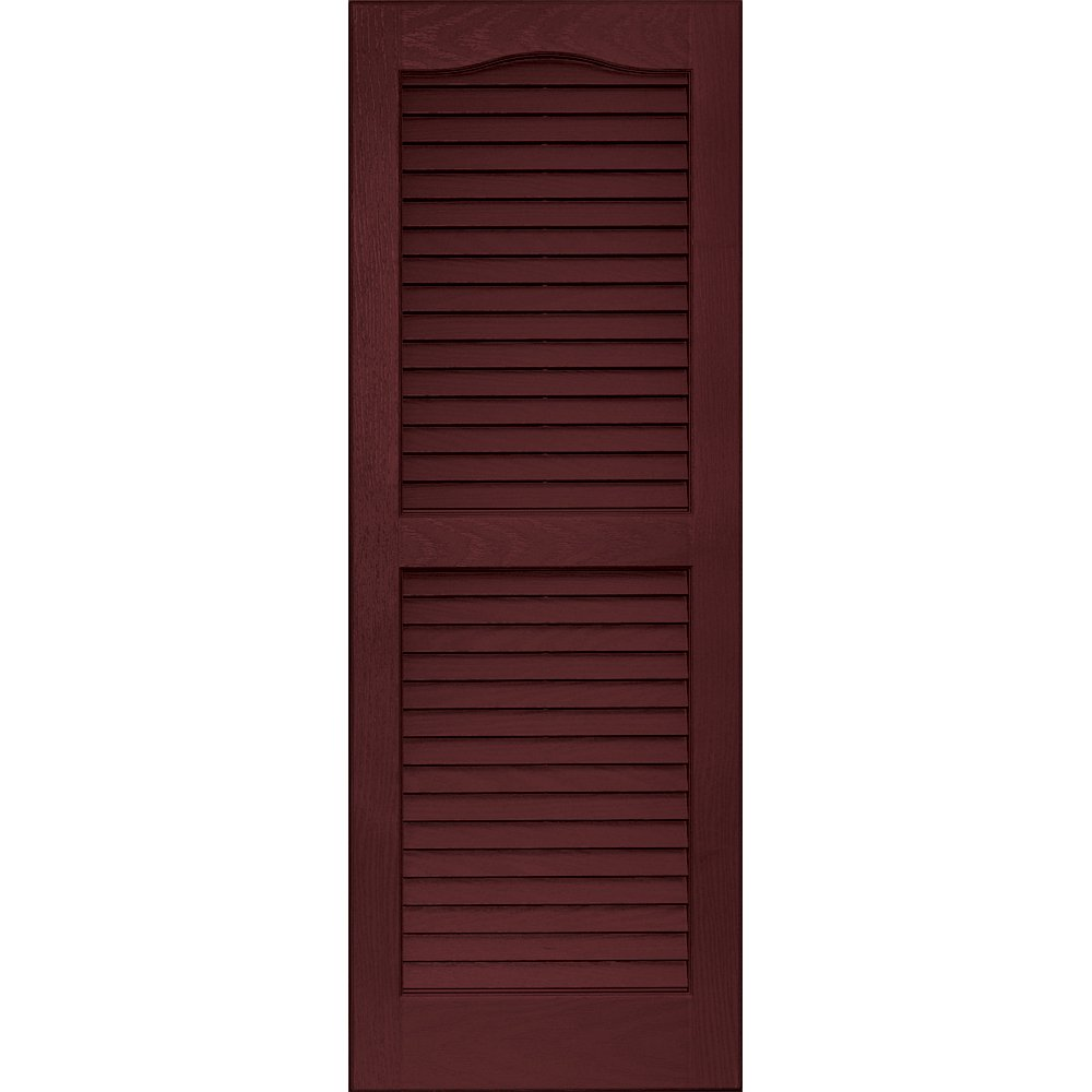 Vantage 0114039989 14X39 Louver Arch Shutter/Pair 989, Cranberry The TAPCO Group - DROPSHIP