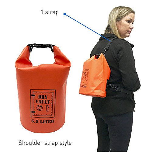 3 Bag Set - DRY VAULT – DRY BAG SETS – 500D PVC Tarpaulin – 20L, 10L, 5.8L with shoulder straps - WEATHERPROOF - WATERPROOF BAGS - BEST DEAL ON AMAZON - 100% Guaranteed -3 QUALITY Bags for Price of 1 by EasyGoProducts (Image #5)