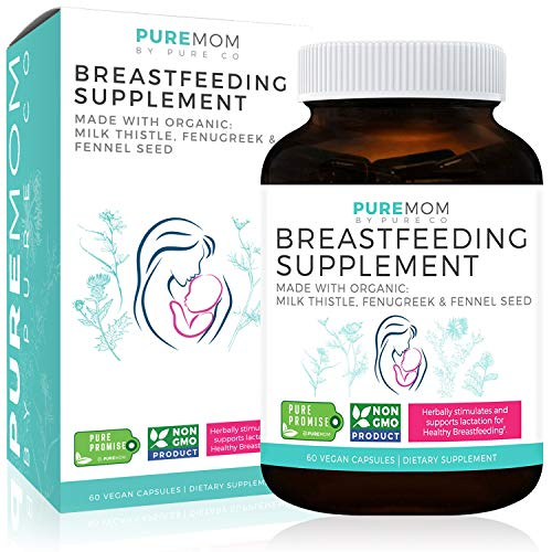 Organic Breastfeeding Supplement – Increase Milk Supply & Herbal Lactation Support | Aid for Mothers | Non-GMO | Organic: Fenugreek Seed, Fennel Seed & Milk Thistle | 60 Vegan Capsules