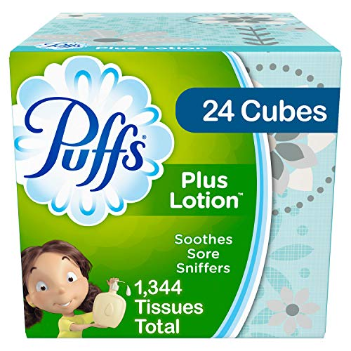 Puffs Plus Lotion Facial Tissues 24 Cube Boxes Now $19.95 (Was $33.34)