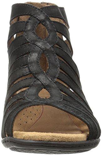 Cobb Bakke Kvinders Abbott Gladiator Sandal Sort Nubuck W7lI5y