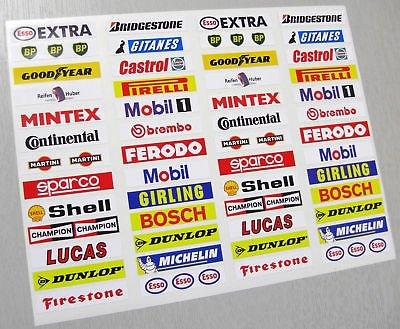 SLOTCAR SCALEXTRIC vintage stil Barrier aufkleber x52