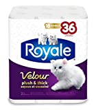 Royale Velour Plush and Thick Bathroom Tissue - Soft Toilet Paper - Double Rolls - 18 Count - Hypoallergenic