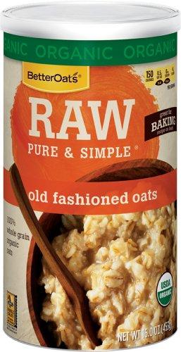 Better Oats Raw Organic Old Fashioned Oats, 16 oz