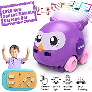 ONG NAMO Car Toys for Boys RC & Hand Operated 2 Models Cartoon Boys Toys with Music Remote Control Animal Car for Kids Girls Toddlers Age 3 4 5 6 7 8 (Purple)