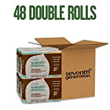 Seventh Generation Unbleached Toilet Paper, Bath Tissue, 100% Recycled Paper, 12 Count (Pack of 4)